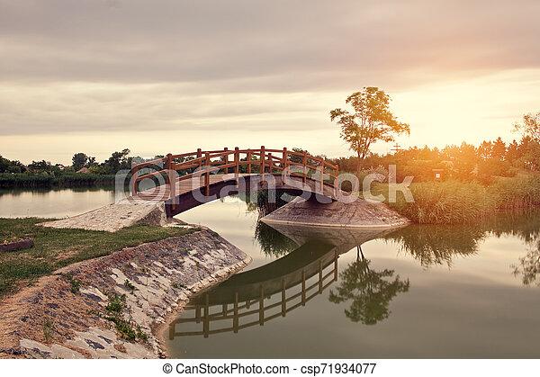 Bridge in the park - csp71934077