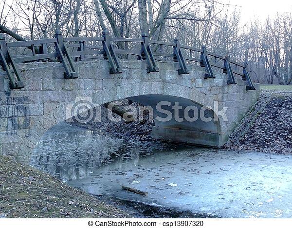 bridge in the park - csp13907320