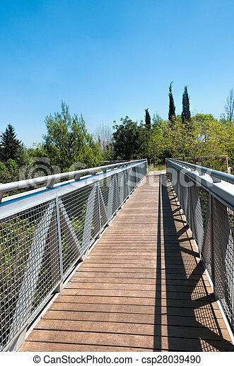 Bridge in the park - csp28039490
