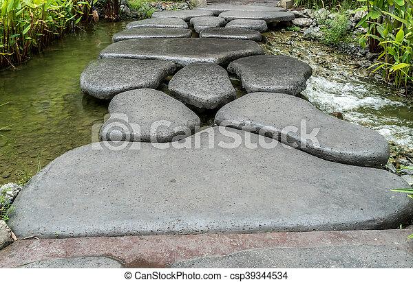Bridge in the park - csp39344534