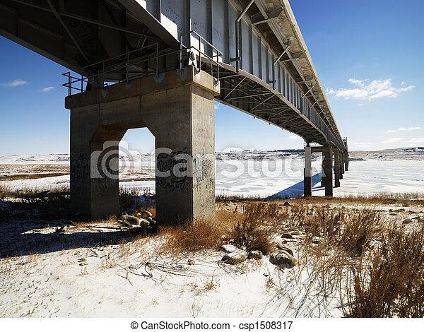 Bridge in winter - csp1508317