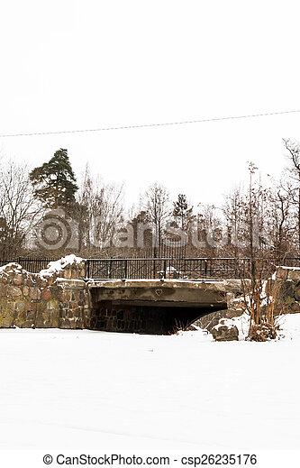bridge in winter - csp26235176