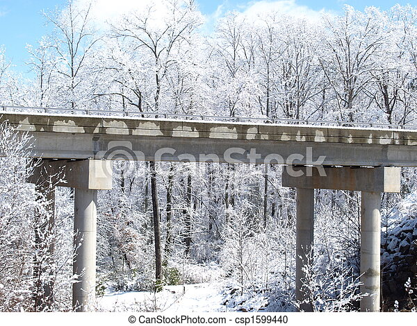bridge in winter - csp1599440
