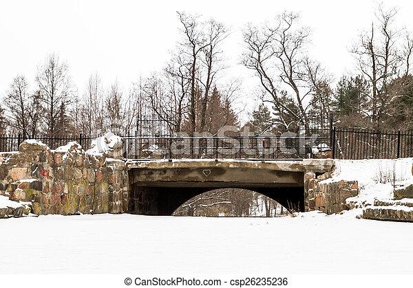 bridge in winter - csp26235236