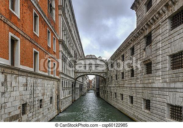 Bridge of Sighs - Venice, Italy - csp60122985