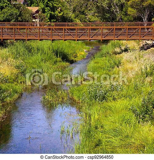 Bridge over a Creek - csp92964850
