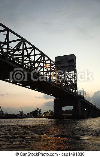 Bridge over Cape Fear River. - csp1491830