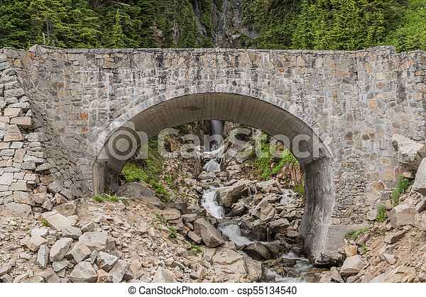 Bridge Over Edith Creek in Paradise - csp55134540