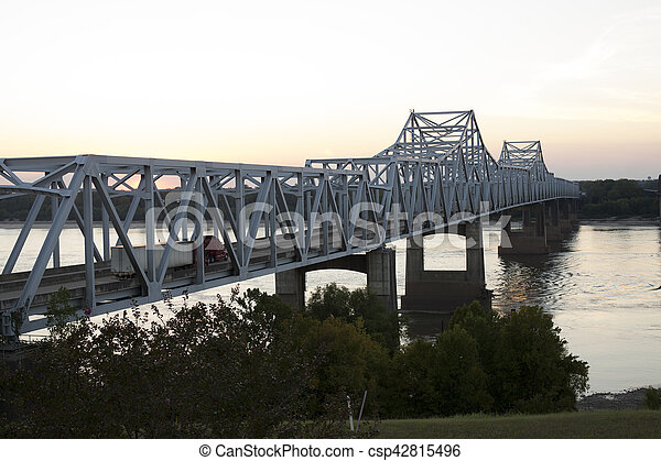 Bridge over Mississippi River - csp42815496
