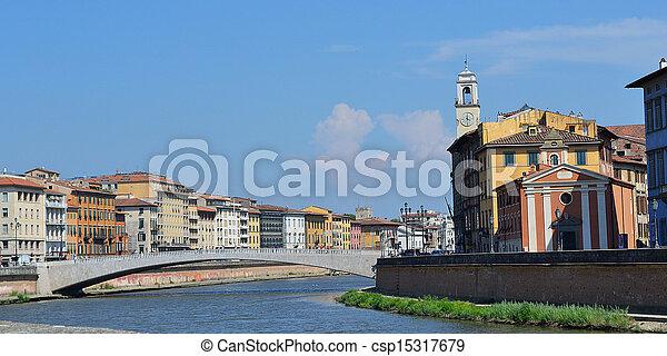 Bridge over river Arno - csp15317679