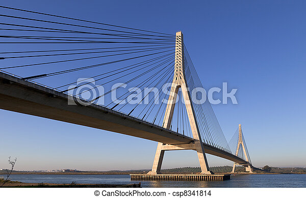 Bridge over the Guadiana River in Ayamonte - csp8341814