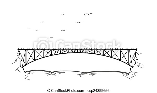 bridge over the river - csp24388656