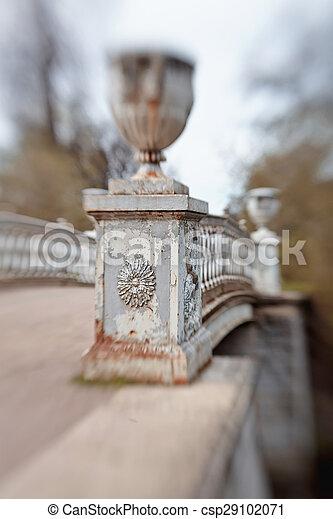 Bridge over the river Slavyanka in Pavlovsk park - csp29102071