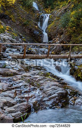 Bridge Over Van Trump Creek - csp72544829