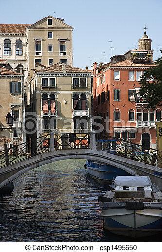 Bridge over Venice canal. - csp1495650