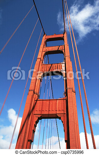 Bridge pier Golden Gate Bridge - csp0735996