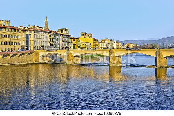 Bridge Ponte Vecchio in Florence, Italy - csp10098279