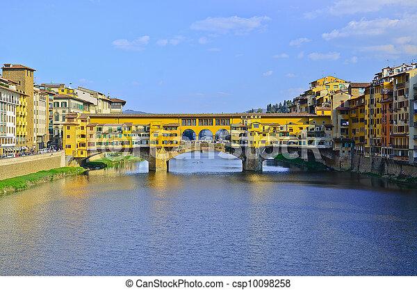 Bridge Ponte Vecchio in Florence, Italy - csp10098258
