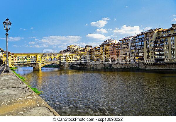 Bridge Ponte Vecchio in Florence, Italy - csp10098222