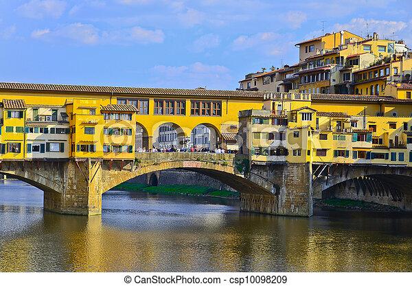 Bridge Ponte Vecchio in Florence, Italy - csp10098209