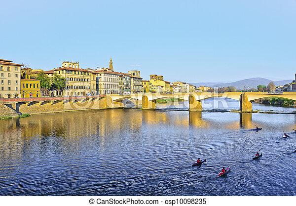 Bridge Ponte Vecchio in Florence, Italy - csp10098235