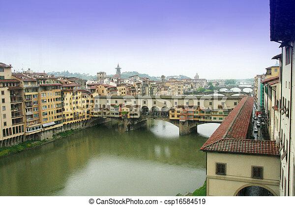 Bridge Ponte Vecchio in Florence - csp16584519