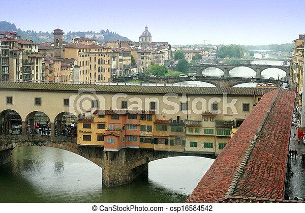 Bridge Ponte Vecchio in Florence - csp16584542