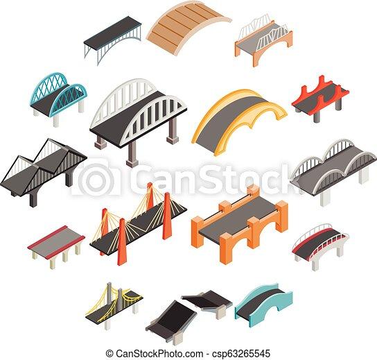 Bridge set icons - csp63265545