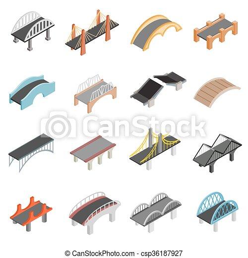 Bridge set icons - csp36187927