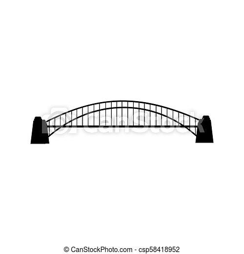 Bridge silhouette illustration - csp58418952