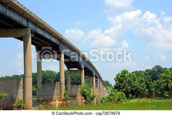 Bridge Spans Arkansas River - csp72679979