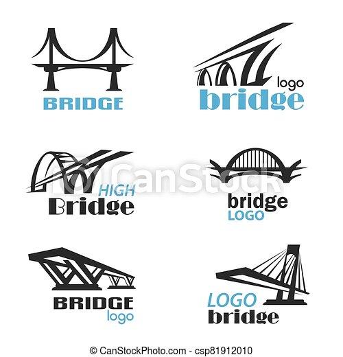bridge symbol logo template collection - csp81912010