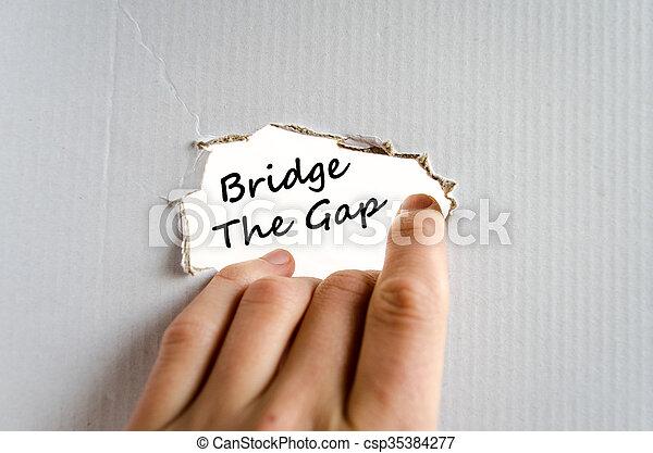 Bridge the gap text concept - csp35384277