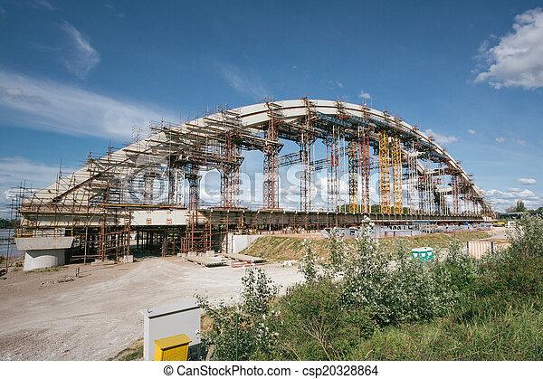 Bridge under construction - csp20328864