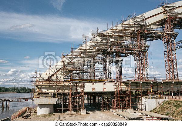 Bridge under construction - csp20328849