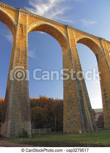 Bridge, viaduct, Souillac, archway, autumn, - csp3279517
