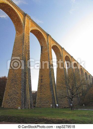 Bridge, viaduct, Souillac, archway, autumn, - csp3279518