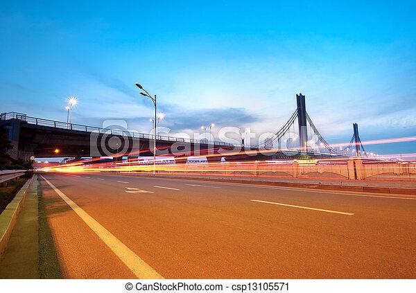 Bridges and light trails - csp13105571