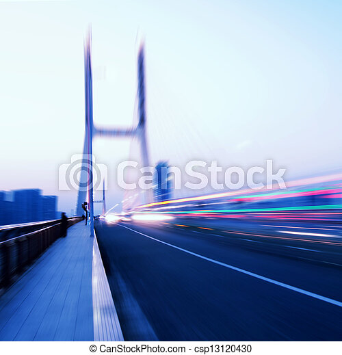 Bridges and light trails - csp13120430