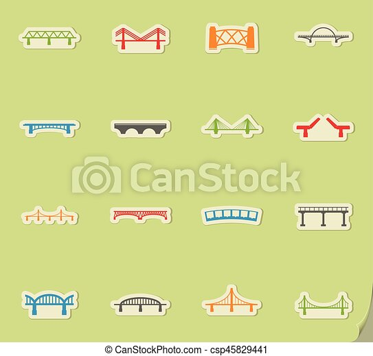 Bridges icons set - csp45829441