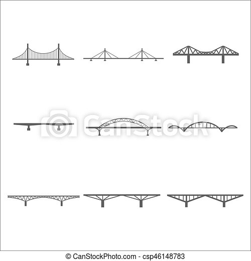 bridges icons set - csp46148783