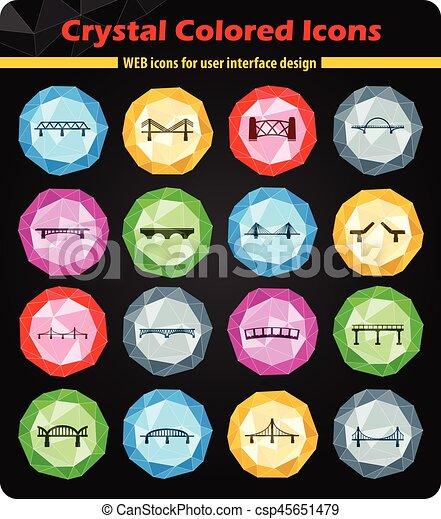 Bridges icons set - csp45651479