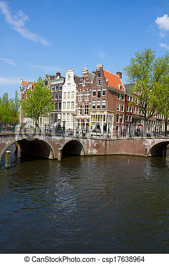 bridges of canal ring, Amsterdam - csp17638964
