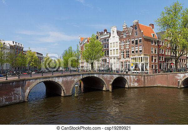 bridges of canal ring, Amsterdam - csp19289921
