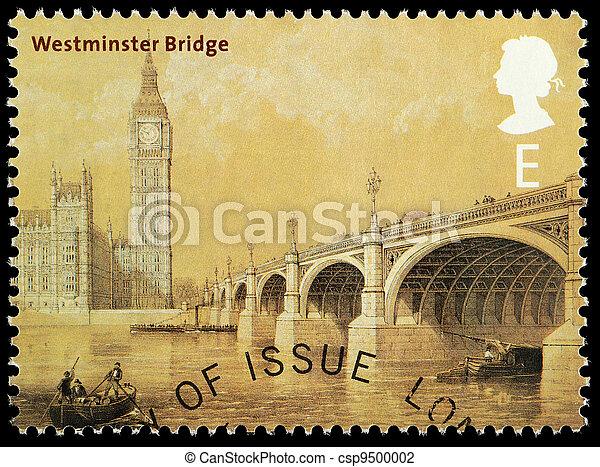 Bridges of London Postage Stamp - csp9500002