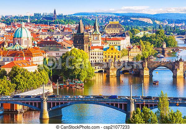 Bridges of Prague, Czech Republic - csp21077233