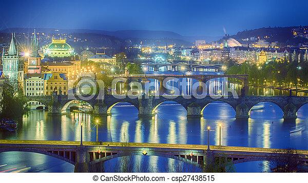 Bridges of Prague - csp27438515