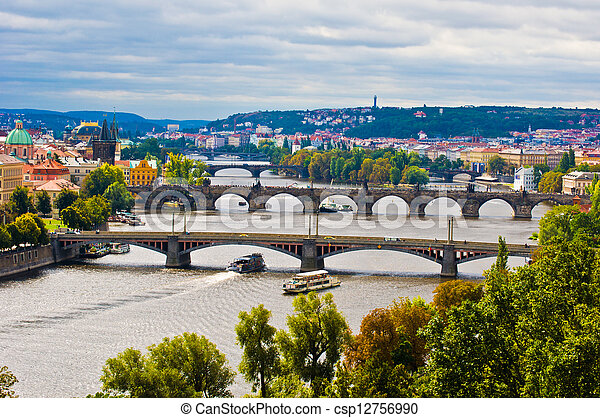 Bridges of Prague - csp12756990
