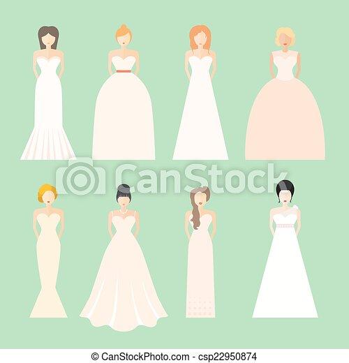 Brids En Vestidos De Novia Novias Con Diferentes Estilos De