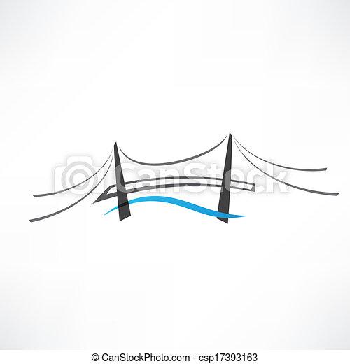 bridzs, elvont, út, ikon - csp17393163